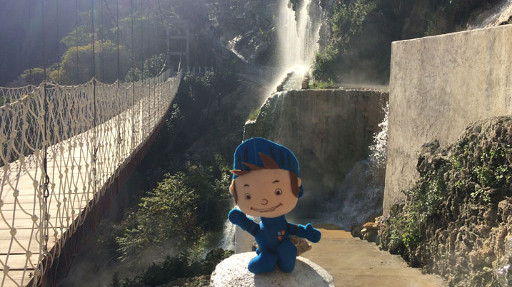 Our mascot Ticket Slayer loves traveling abroad with us!
